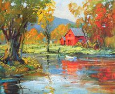 Autumn Reflections By Phillip Shumaker Vintage by PlantsNStuff, $5.75