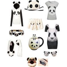 Panda things! ♡ - Polyvore