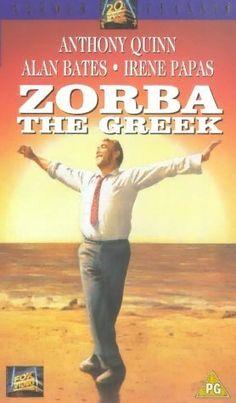 """Zorba The Greek"" Anthony Quinn 1964 / Century Fox Irene Papas, Alan Bates, Zorba The Greek, Movie Songs, Movies, Actor Secundario, Literary Characters, English Writers, Anthony Quinn"