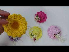 How to crochet mini dress كروشيه ميني فستان توزيعات - YouTube