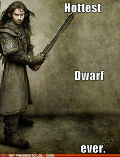 Aidan Turner. How did they turn short bearded men that are otherwise depicted as squat and grotesque into pretty warriors?
