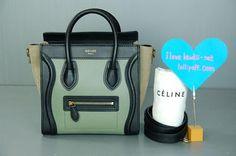 Gorgeous tri-color Celine Nano Shoulder Bag! Authentic and on auction at  Lollipuff! 0266aadad4