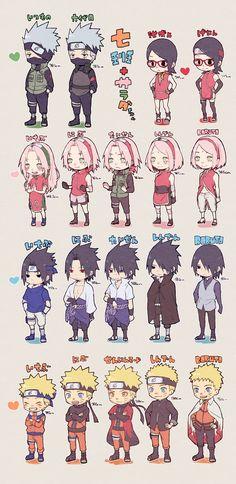 Naruto Shippuden Sasuke, Naruto Sasuke Sakura, Naruto Cute, Kakashi, Naruto Images, Naruto Pictures, Otaku Anime, Naruto Mignon, Naruto Team 7