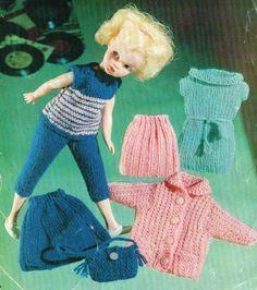 "12"" Dolls clothes knitting pattern. Barbie, Sindy .Laminated vintage copy. | eBay"