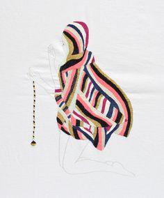 embroidered artwork by Jazmin Berakha