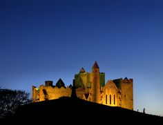 Rock of Cashel - one of Ireland's most beautiful, yet spooky, places to visit and a perfect Halloween photo. The rock is said to have been created when the devil bit a nearby mountain and broke his tooth.