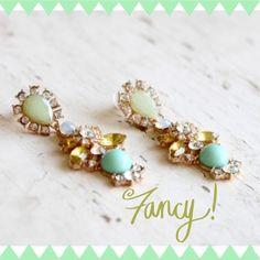 Fancy mint chandelier earrings Pretty mint colored earrings. Brand new Host pick  Jewelry Earrings