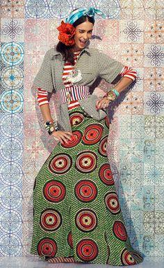 Love the bold print maxi   Stella Jean SS 14 #african #print