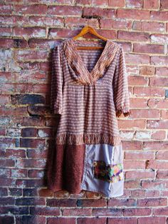 Tunic Style Boho Dress/Upcycled