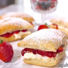 Strawberry Cheesecake Puffs | ZagLeft