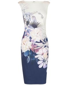 New In: Clothing   Multi Palm Bay Dress   Phase Eight