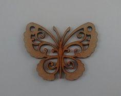 borboleta MDF 10CM ALT