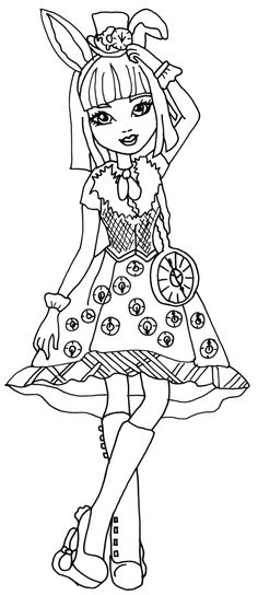 Free Printable Ever After High Coloring Pages Bunny Blanc