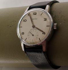 Orologio vintage AERO stile militare, anni 40-50