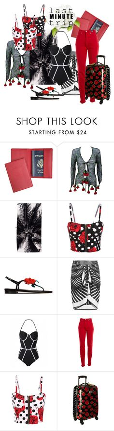 """Last Minute Trip"" by sinupgirl ❤ liked on Polyvore featuring Royce Leather, Oscar de la Renta, La Perla, Versace Jeans Couture and Betsey Johnson"