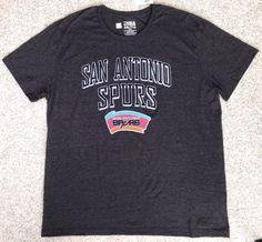 bd583f5948a New Mens(XXL) SAN ANTONIO SPURS T-SHIRT Soft Fit Dark Charcoal Gray