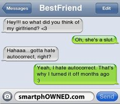 his gf :) - - Autocorrect Fails and Funny Text Messages - SmartphOWNED
