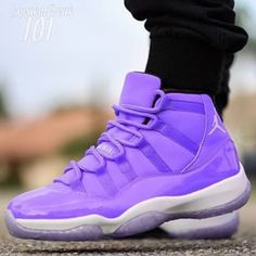 Me and my purple J's I got swag LOL