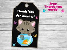 Kitty invitation Kitten birthday party supplies Kitty birthday