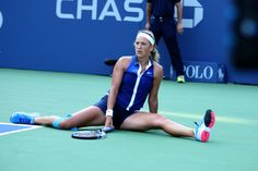 No. 16 seed Victoria Azarenka in action on Day 2 of the US Open - Corey Silvia/usopen.org