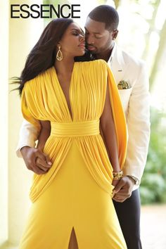 new concept d2d59 c638f Gabrielle union in Yellow jersey From Marc Bouwer couture photographed with  Dwyane Wade Essence Magazine,