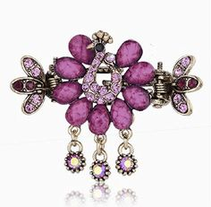 Smile hairpin horseshoers gripper Medium hair caught rhinestone ** Click image to review more details.