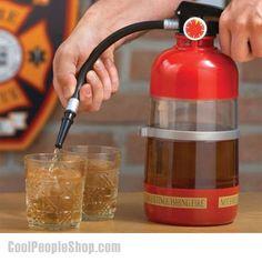 the Fire Extinguisher Cocktail Shaker Liquor Pump Wine Beer Dispenser Machine Firefighter Birthday, Firefighter Gifts, Firefighter Wedding, Firefighter Paramedic, Cocktail Drinks, Cocktails, Cocktail Shaker, Alcoholic Beverages, Grab Bars In Bathroom