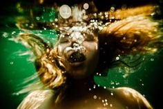 "Neil Craver - ""Underwater Nude Rock Quarry"""