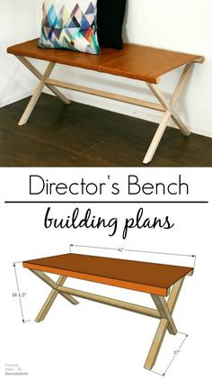 Follow this step-by-step building tutorial to make a chic leather director's bench, perfect for an entryway or extra seating. Building plan by Pneumatic Addict on Remodelaholic.com