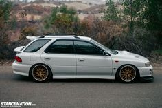 Subaru WRX Hatchback Slammed Want to share pics of your #Slammed & #Stance rides at www.Rvinyl.com? Follow us and ask #Rvinyl to add you to the board.