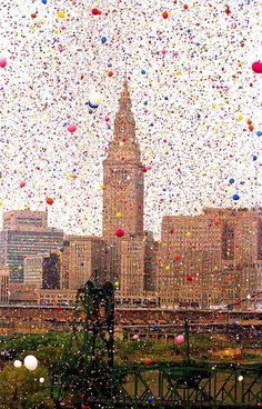When Cleveland released 1.5 million balloons and two men died