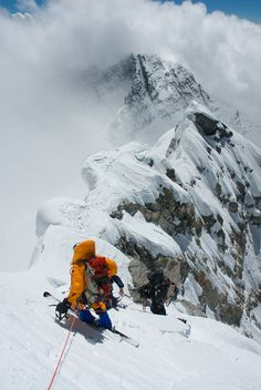 """Jimmy Chin's photo of Kit DesLauriers during her ski descent of Mount Everest. Deslaurier emcess """"Everest '63,"""" a special event featuring Jim Whittaker and others from the historic climb, on Monday, May 13 at Center for the Arts."""