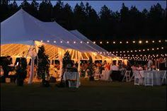 clear tent with string lights - Google Search