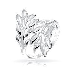 Laurel Leaves Ivy Leaf Ring 925 Sterling Silver Polished