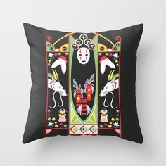 Spirited Deco Throw Pillow