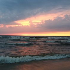 Sunset at Oval Beach , Saugatuck, Michigan.
