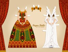 Christine Daae (From The Phantom of the Opera) paper dolls by Cory
