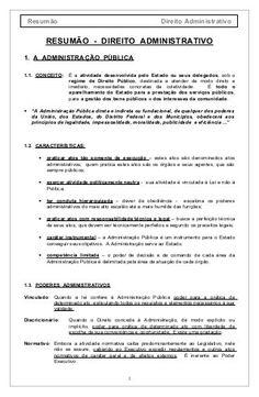 Direito administrtivo resumão