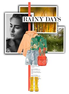 """""""Rainy Days"""" by lifestyle-ala-grace ❤ liked on Polyvore featuring Monki, Hunter, Alice + Olivia, Off-White and Chloé"""