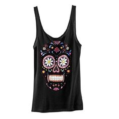 Tshirt Women Sleeveless Sugar Skull Tank Tops Summer Casual Blouses Shirts >>> For more information, visit image link.Note:It is affiliate link to Amazon. #fashion