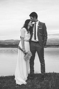 Nancy Barrus Custom gown, chiffon wedding gown, modest wedding gown, wedding dress with sleeves