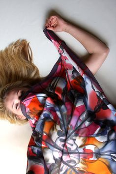 Hand painted silk scarf by Asta Masiulyte, http://astasilk.com/