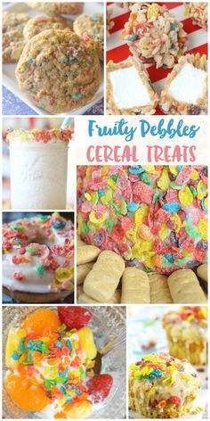 Fruity Pebbles Treats: Make these cereal desserts with Fruity Pebbles! #cereal #desserts