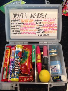 """Rush Survival Kit"" for littles first recruitment!"