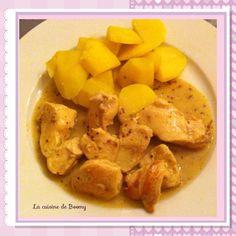 Émincé de poulet à la moutarde et au cumin WW - La cuisine de Boomy