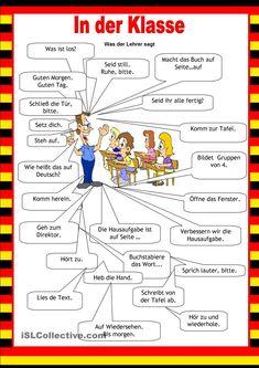 #willkommen #deutsch #schule #aufWillkommen auf Deutsch - SchuleWillkommen auf Deutsch - Schule German Grammar, German Words, Classroom Commands, German Resources, Deutsch Language, Study German, Germany Language, German Language Learning, Grammar And Vocabulary