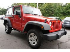 2012 Flame Red Jeep Wrangler 4WD 2dr Sport