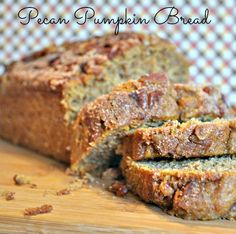 Pecan Pumpkin Bread Loaf!