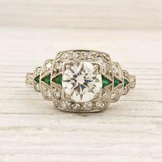 Image of .79 Carat Old European Cut Diamond Engagement Ring