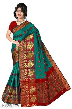 Sarees Adrika Attractive Sarees Saree Fabric: Banarasi Silk Blouse: Separate Blouse Piece Blouse Fabric: Banarasi Silk Multipack: Single Sizes:  Free Size (Saree Length Size: 5.5 m, Blouse Length Size: 0.8 m)  Country of Origin: India Sizes Available: Free Size   Catalog Rating: ★4.2 (450)  Catalog Name: Aagyeyi Petite Sarees CatalogID_2532914 C74-SC1004 Code: 644-13007174-3111